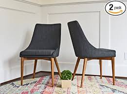 Grey Fabric Dining Room Chairs Upholstered Dining Chairs Mid Century Modern Dining