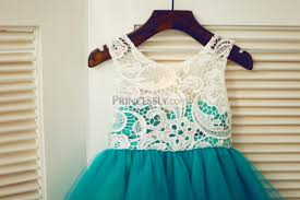 green tulle ivory lace green tulle wedding flower girl dress
