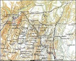 Georgia Road Map East Tennessee U0026 Georgia Railroad Georgia Section Civil War