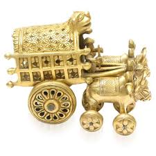 homeshop18 home decor home sparkle brass decorative artifacts bullock cart toy decor