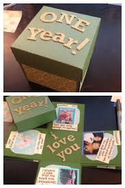 1 year anniversary gift for him creative memory box for your boyfriend pinteres