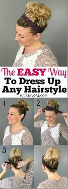 infinity headband 7 ways to wear a headband hair by lori
