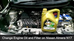 nissan micra engine oil เปล ยนน ำม นเคร อง nissan almera change engine oil and filter
