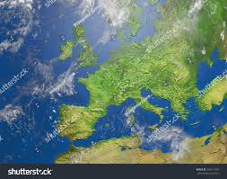 Show Me A Map Of Europe Shaded Relief Map Europe 3d Illustration Stock Illustration