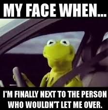 Find Funny Memes - not so much the caption i find funny but kermit driving that is
