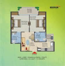 2bhk Floor Plan Migsun Roof Floor Plan Pradhan Mantri Awas Yojana