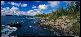 Michigan national parks images Panoramic picture photo rocky lakeshore isle royale national park jpeg