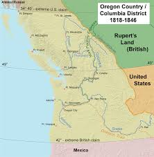 Google Map Of Oregon by Oregon Country Wikipedia