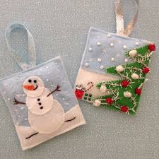 felt handmade ornaments crafts