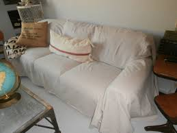 Sofa Slipcover Pattern by Amazing Drop Cloth Slipcover Sofa 95 No Sew Drop Cloth Sofa