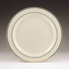 regal gold with ivory plastic plates 6in 12ct