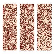mehndi henna ornaments printable digital sheet