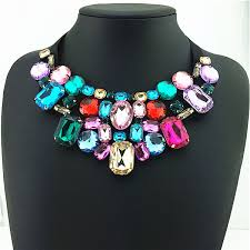 big fashion statement necklace images Gorgeous big shining crystal fashion collar statement necklace jpg