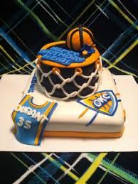 oklahoma city thunder cake sweet november cakes pinterest