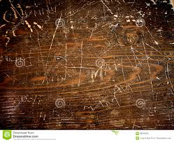 Dark Wooden Table Texture Wood Background Dark Wooden Table With Graffiti Stock Photo