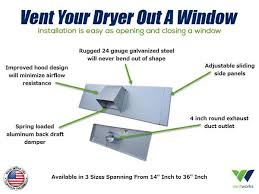 Basement Window Dryer Vent by How To Vent A Dryer Out A Window Vent Works