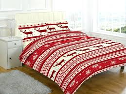 xmas duvet cover with pillow case novelty reindeer christmas duvet