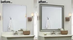 Framing A Bathroom Mirror Awesome Ideas Bathroom Mirror Frame Kit Marvelous Ideas Marvelous