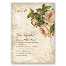 vintage wedding invitation boho flowers invitation invitations by