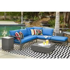 sunbrella sectional sofa indoor handy living aldrich indoor outdoor grey woven resin rattan