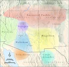 Colorado Desert Map by Map Of Archaeological Cultures Of The Southwestern Us Ah