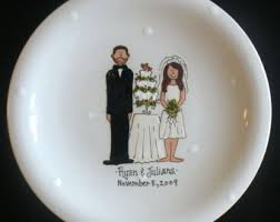personalized wedding plate personalized wedding plate painted ceramic wedding