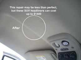 Headliner Upholstery Cloth Fabric And Velour Repair