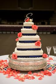 coral wedding cakes navy blue and coral wedding cakes images wedding cakes
