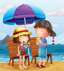 Toddler Beach Chair With Umbrella 13 720 Children Beach Cliparts Stock Vector And Royalty Free
