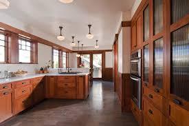 Schoolhouse Pendant Lighting Kitchen Craftsman Baseboard Kitchen Craftsman With Tile Floor Wood Trim