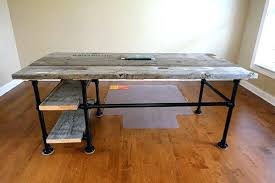 galvanized pipe table legs lovely pipe desk plans reclaimed wood pipe desk with side galvanized