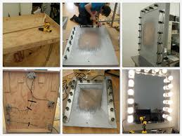 Makeup Vanity With Lighted Mirror Making Lighted Mirror Vanity New Lighting Lighted Mirror