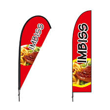 Beach Flag Pole Beachflag über 2m Hoch Open Reklame Plakat Geöffnet Werbefahne