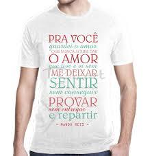 Preferidos Camiseta Letra De Música Trechos Frases Nando Reis Mpb Banda no  &IC23