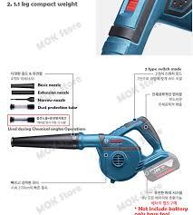 bosch professional cordless handheld blower gbl 18v 120 bare tool