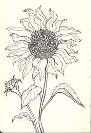 the 25 best sunflower drawing ideas on pinterest sunflower
