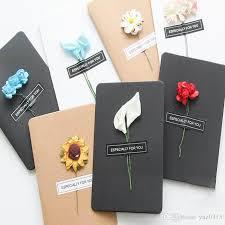 paper greeting cards made christmas greeting cards dried flower diy vintage kraft