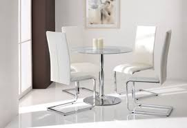 chair glass dining table with white chairs round round glass table and chairs starrkingschool dining room with white leather curving silver steel legs