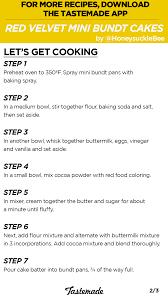 red velvet mini bundt cakes recipe tastemade