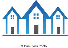 three houses three houses business icons clip vector search drawings and