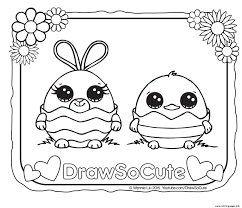 draw so cute coloring pages free printable