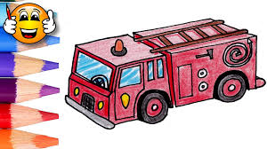 coloring pages kids fire truck fire engine draw