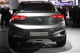 hyundai crossover 2015 hyundai santa cruz crossover concept rear at the 2015 detroit auto