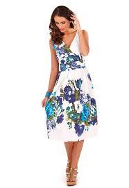 womens dress 100 cotton floral summer dress mid knee length