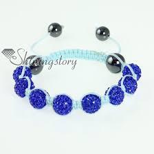 cord macrame bracelet images Light blue cord macrame disco glitter ball pave beads bracelets jpg