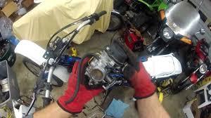 suzuki dr250 carburetor removal youtube