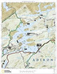 Tos Map Paddling Raquette Lake Adirondacks New York