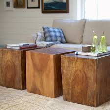 Cube Coffee Tables Wood Cube Coffee Table New Convertible Accent Tables Vivaterra
