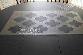 Kitchen Stencils Designs by Doodlecraft Stencil A Round Kitchen Table Tutorial