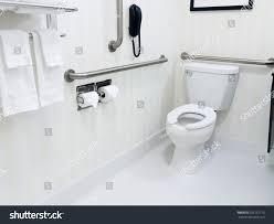Bathroom Handicap Rails Handicapped Access Bathroom Grab Bars Toilet Stock Photo 295152173